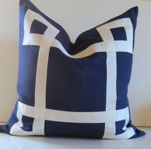 Ribbon Fretwork Pillow