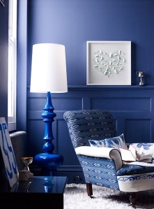 Blue Room from Busy Being Fabulous blog. Anyone know who designer is?