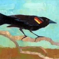 ed Winged Black Bird by Elisabeth See
