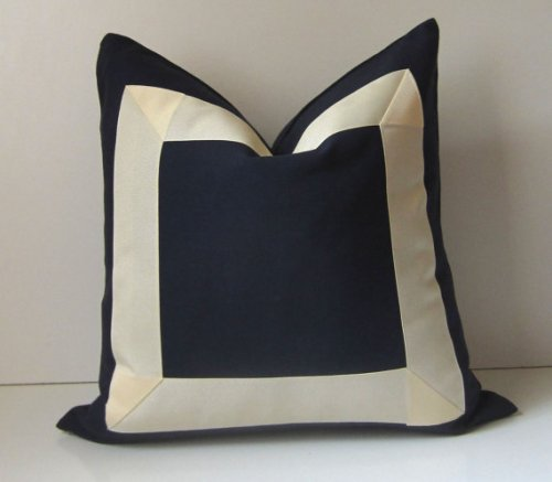 Navy with Wide Grosgrain Cream Ribbon