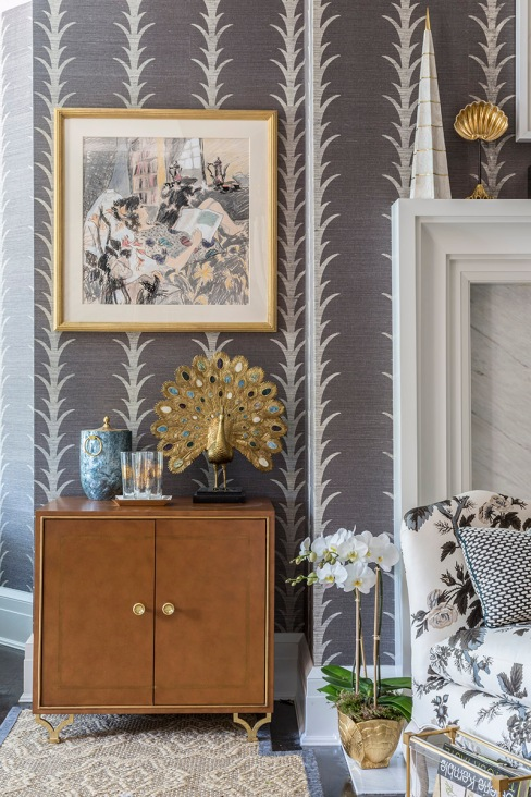 Hampton Designer Showhouse - Celerie Kemble Hand Blocked Schumacher Wallpaper