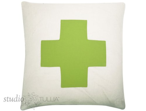 Citron Green Cross Pillow